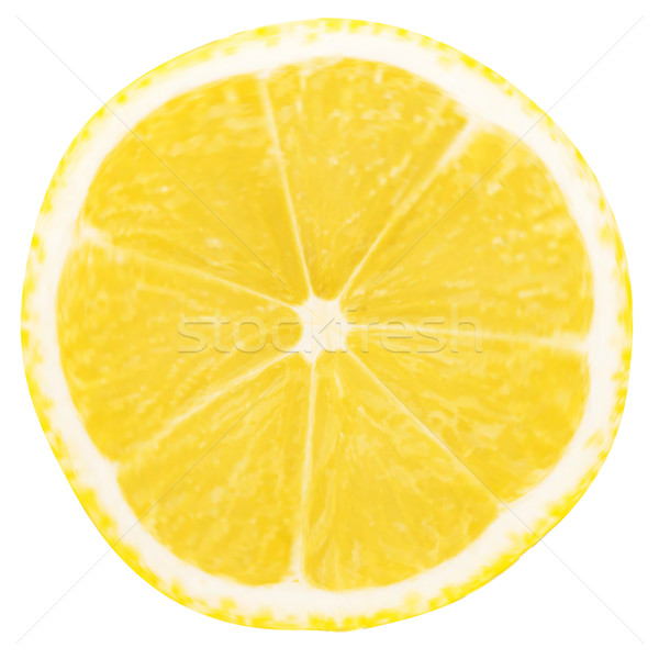 Stock photo: lemon slice isolated on white background