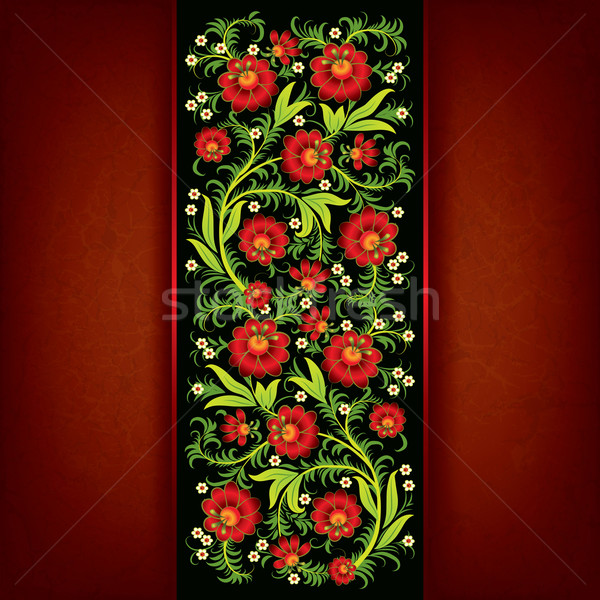 abstract grunge floral background with spring flowers Stock photo © lem