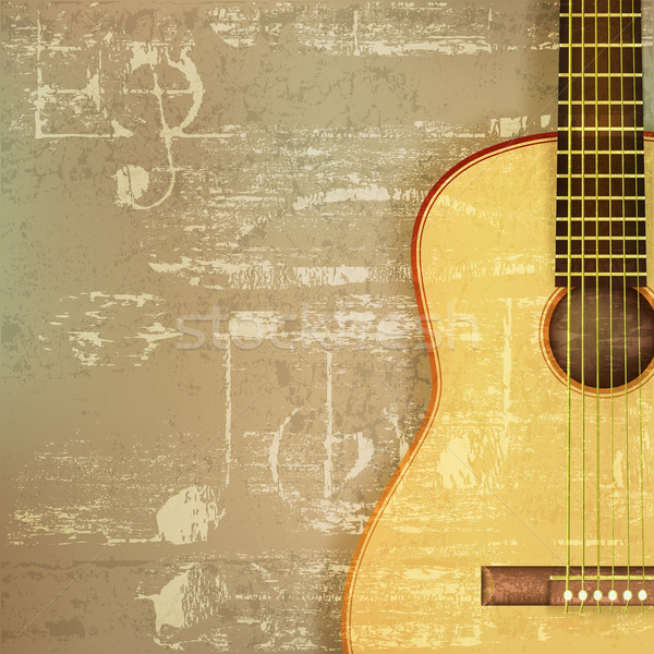 abstract grunge piano background with acoustic guitar Stock photo © lem
