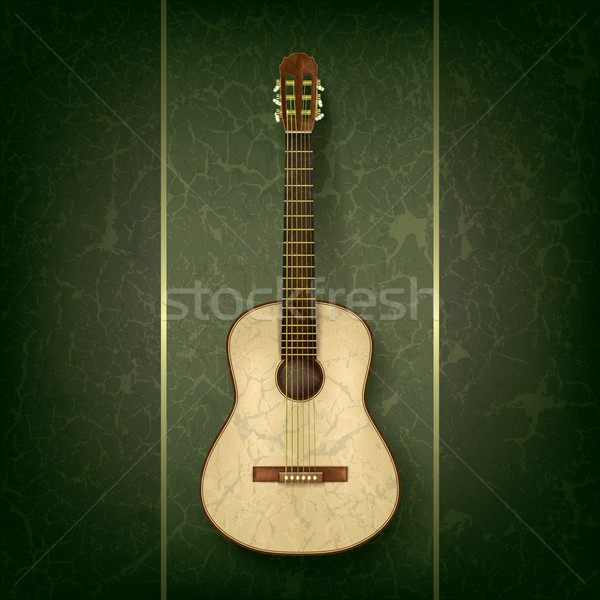 Guitarra acústica grunge verde resumen música guitarra Foto stock © lem