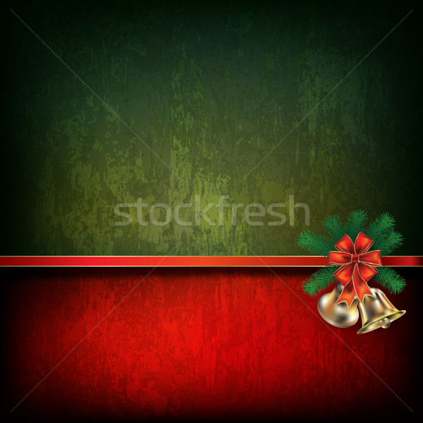 Abstract grunge background with Christmas bells Stock photo © lem