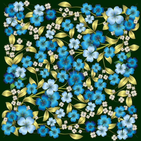 Soyut mavi süs yeşil arka plan Stok fotoğraf © lem