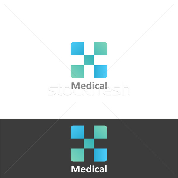 Tıbbi ikon dizayn sanat imzalamak yeşil Stok fotoğraf © lemony
