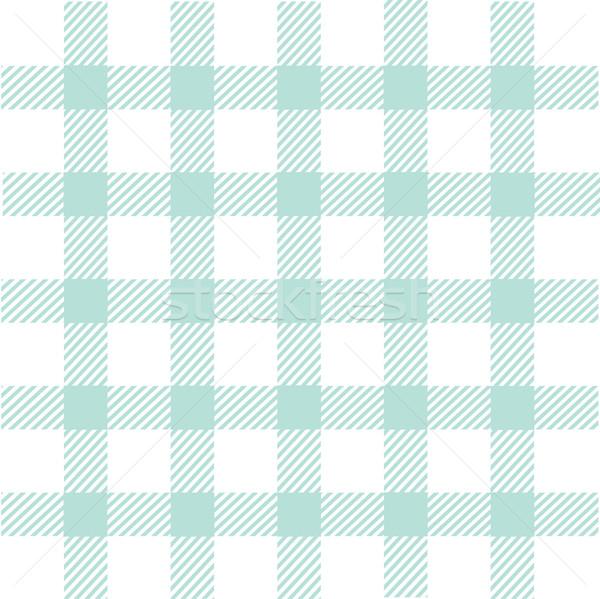 Seamless blue plaid pattern Stock photo © lemony