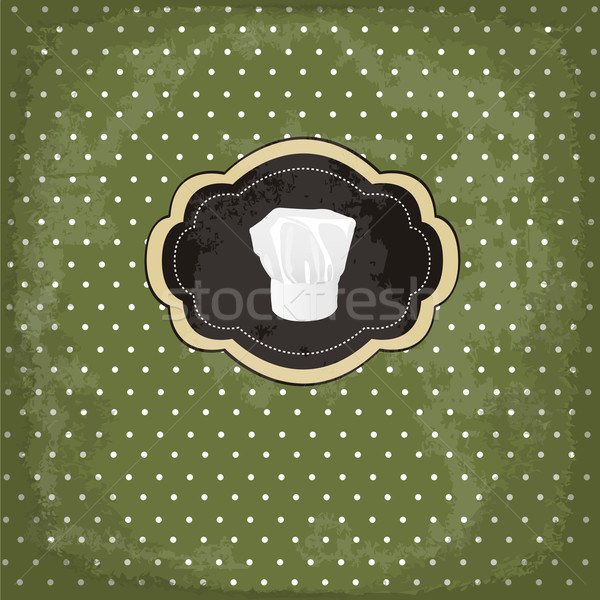 Vintage design card with chef hat frame Stock photo © lemony