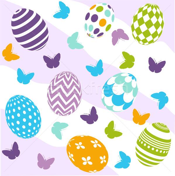 Seamless Easter Pattern Stock photo © lemony