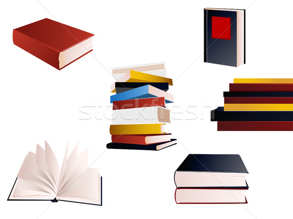 Boek ingesteld business papier werk onderwijs Stockfoto © lemony