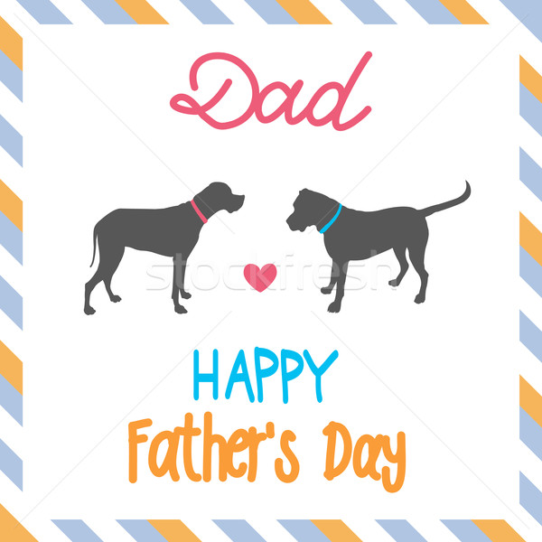 Sweet card for Fathers Day Stock photo © lemony