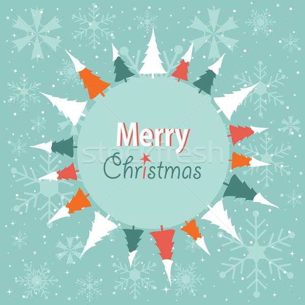 Stock photo: Merry Christmas card