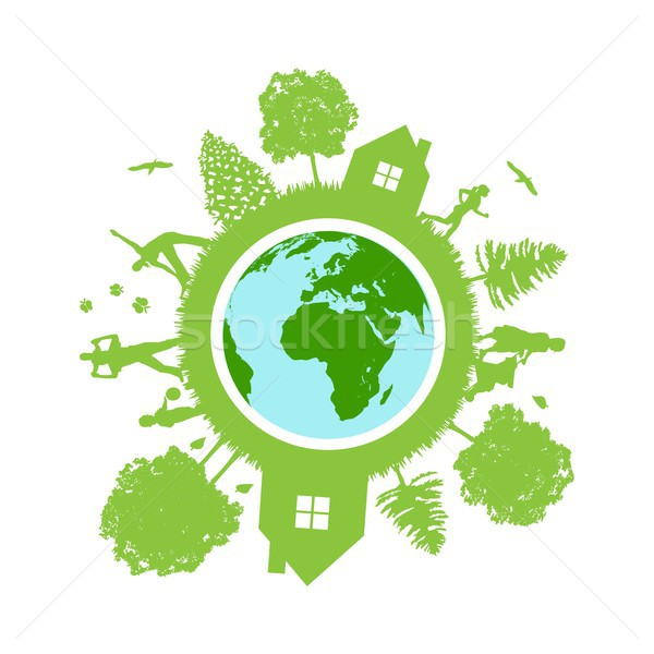 Eco aarde business vlinder kind gezondheid Stockfoto © lemony