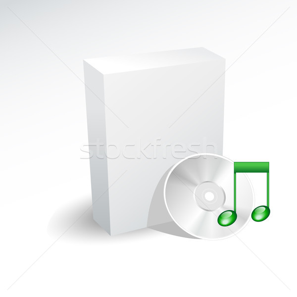 Blank box and music dvd , disc , cd Stock photo © lemony
