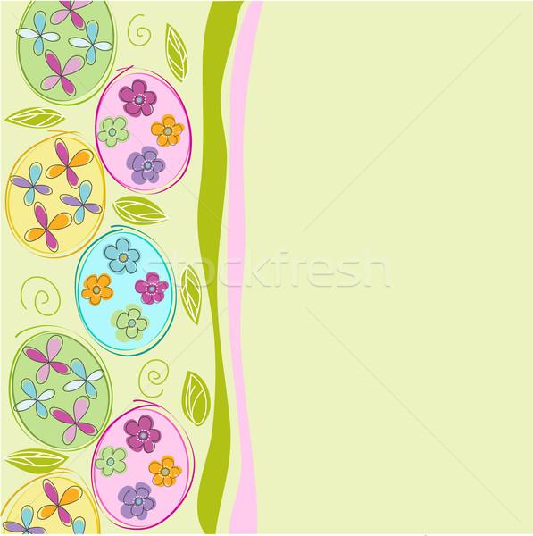 Vrolijk pasen Pasen abstract ontwerp weefsel daisy Stockfoto © lemony