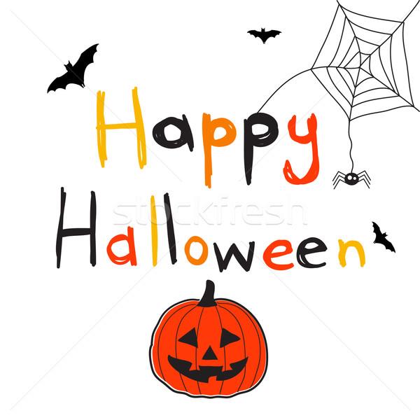 Gelukkig halloween kinderen abstract blad achtergrond Stockfoto © lemony