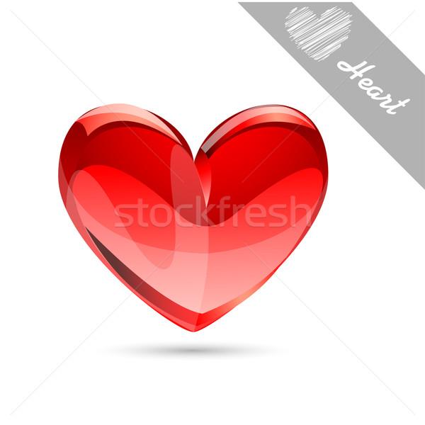Hart ontwerp achtergrond teken geschenk alleen Stockfoto © lemony