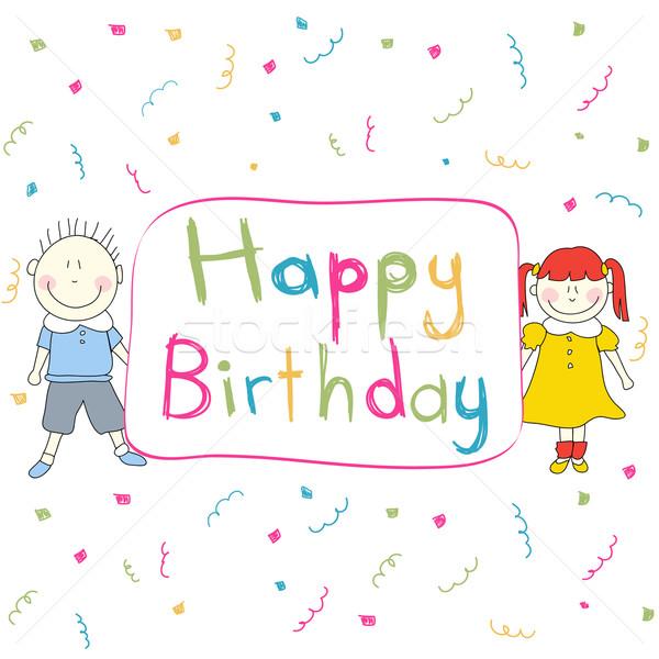 Happy Birthday card Stock photo © lemony