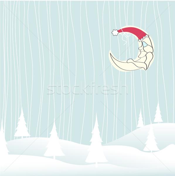 Alegre Navidad cielo bebé ninos nieve Foto stock © lemony