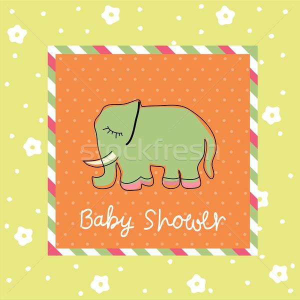 Bebek duş sevmek çocuk doğum günü Stok fotoğraf © lemony