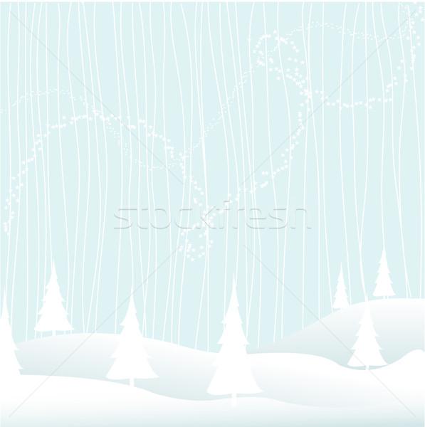 Alegre Navidad cielo nieve hielo estrellas Foto stock © lemony