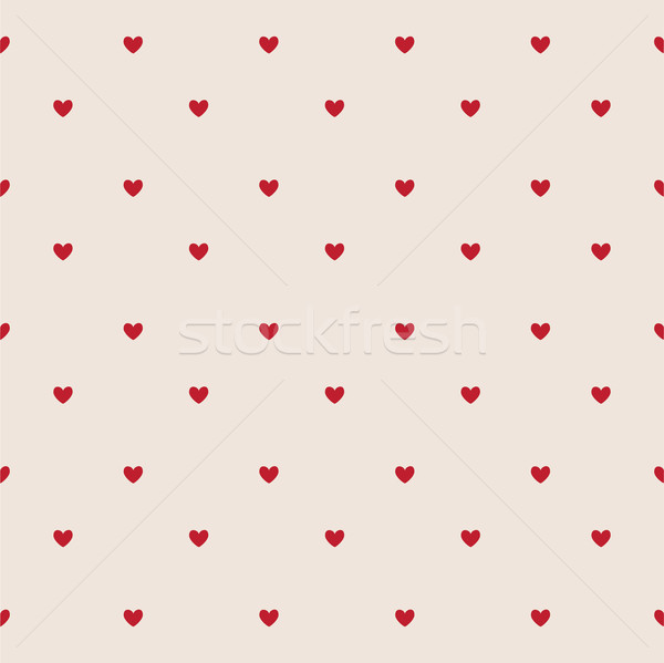 Seamless red and white hearts, Valentine's day card Stock photo © lemony
