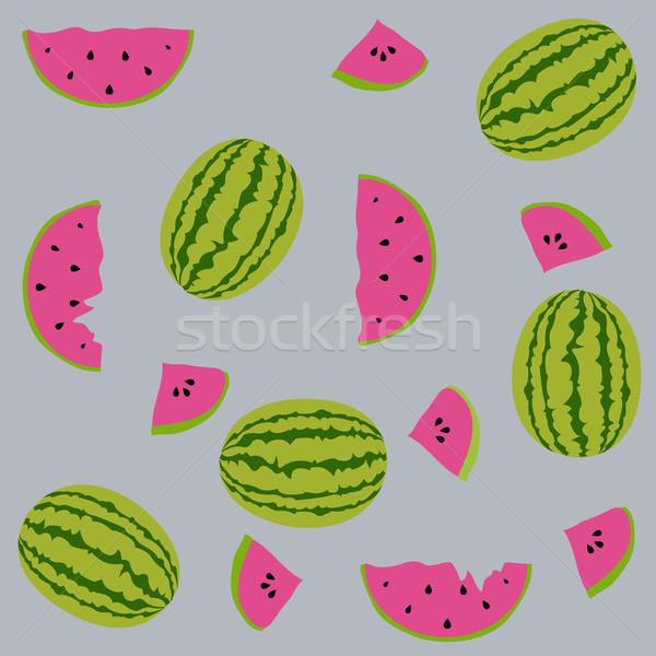 Elemanları dizayn meyve sanat yaz Stok fotoğraf © lemony
