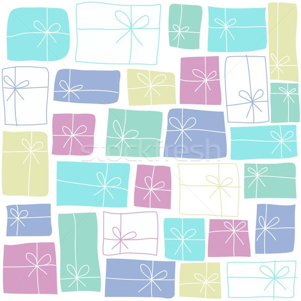 Geschenken ontwerp achtergrond geschenk kaart vintage Stockfoto © lemony