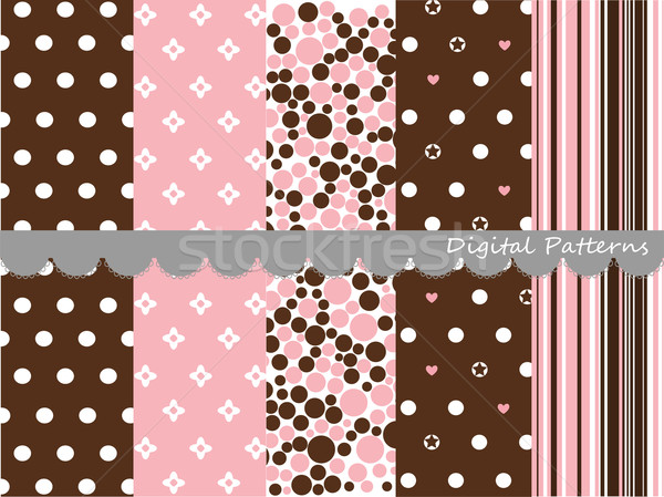 Digital patterns, scrapbook set Stock photo © lemony