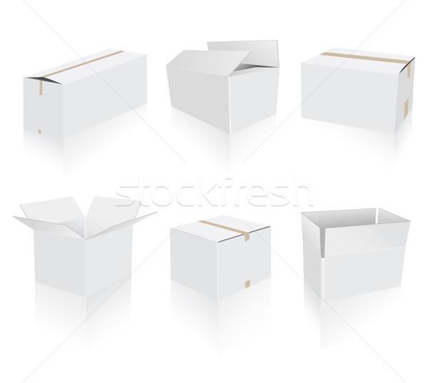 White boxes set Stock photo © lemony
