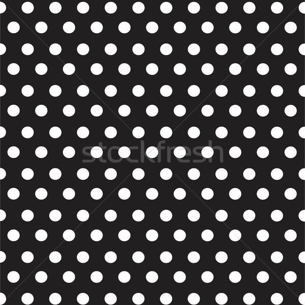 White dots polka on black background seamless pattern Stock photo © lemony