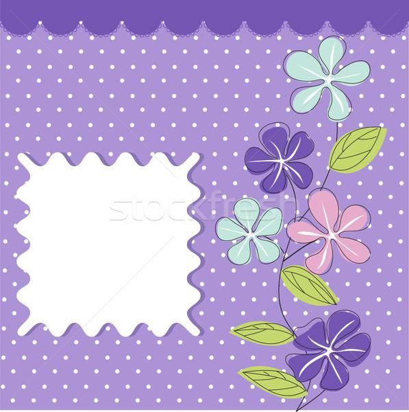 Wenskaart bloemen voorjaar natuur achtergrond Stockfoto © lemony