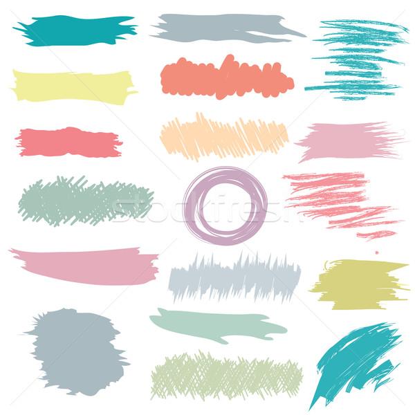 Renkli fırçalamak dizayn boya baskı mürekkep Stok fotoğraf © lemony