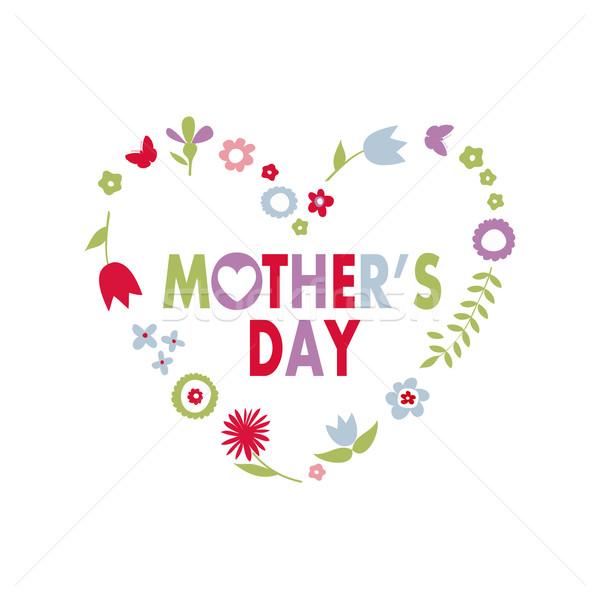 Moeders dag Pasen vrouw bloemen voorjaar Stockfoto © lemony