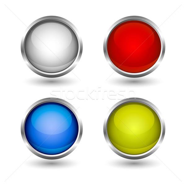 web buttons colorful design set Stock photo © lemony