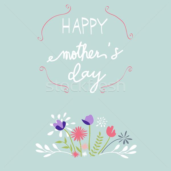Mães dia cartão folha fundo margarida Foto stock © lemony