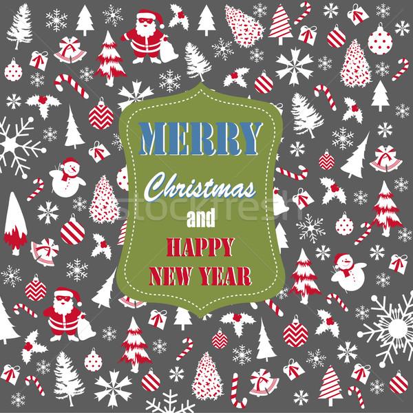 Vrolijk christmas textuur gelukkig ontwerp achtergrond Stockfoto © lemony