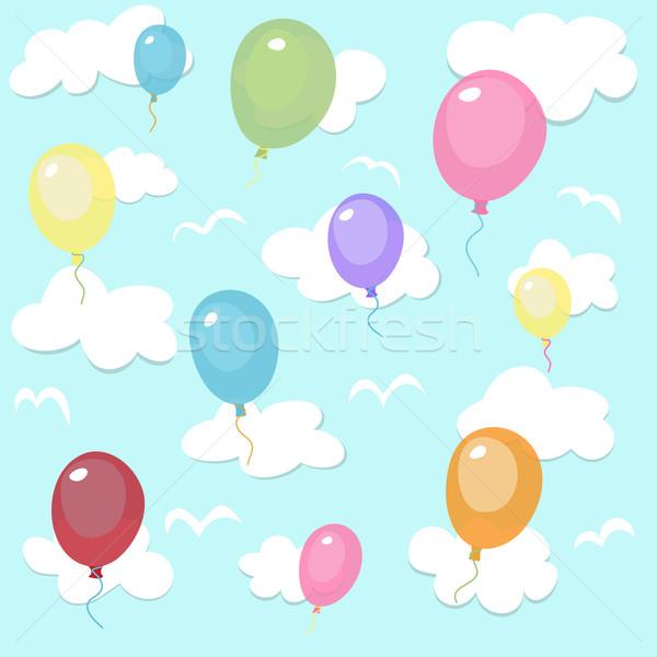 Colorido globos fiesta ninos cumpleanos Foto stock © lemony