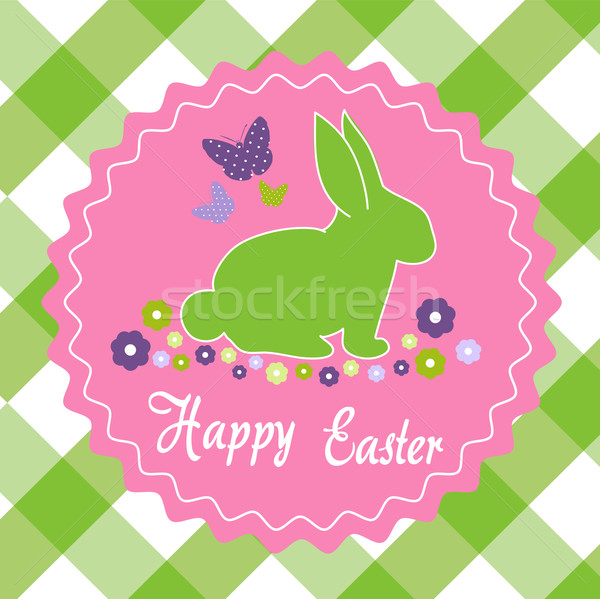 Stock photo: Happy Easter Card