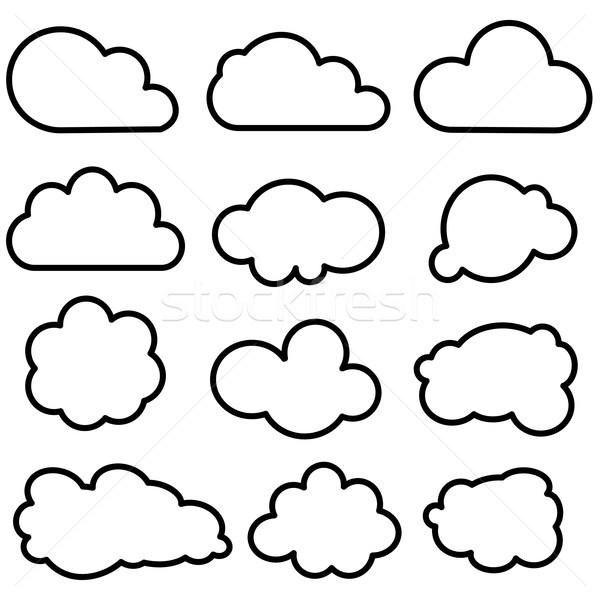 Bulut toplama bulutlar bahar Internet Stok fotoğraf © lemony
