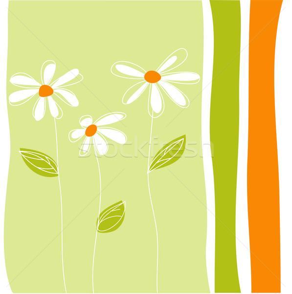 Tebrik kartı çiçekler kız moda soyut Stok fotoğraf © lemony