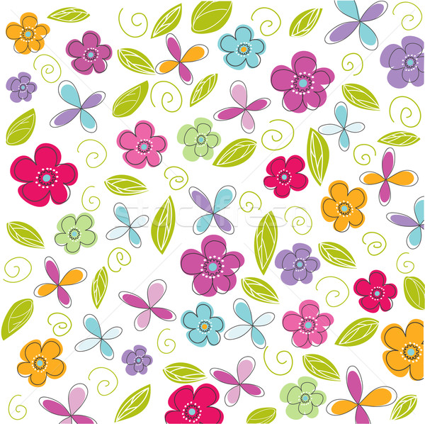 floral background, easter Stock photo © lemony