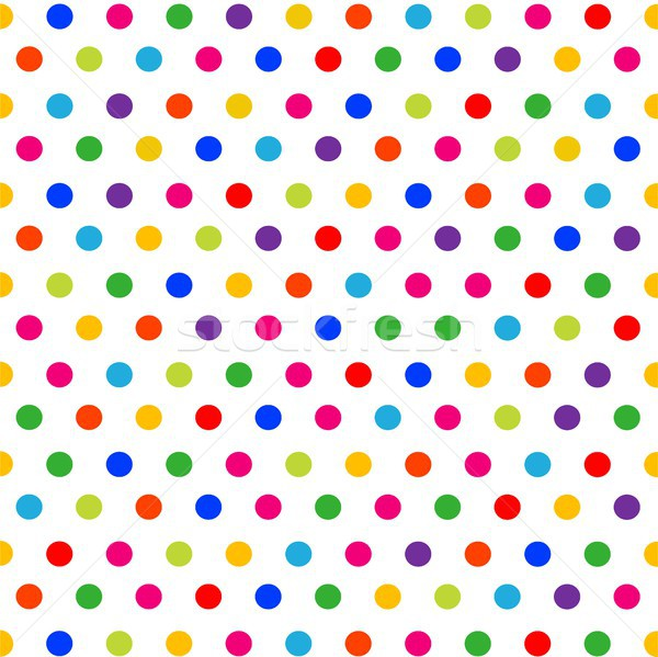 Vector seamless pattern with colorful polka dots on white background Stock photo © lemony