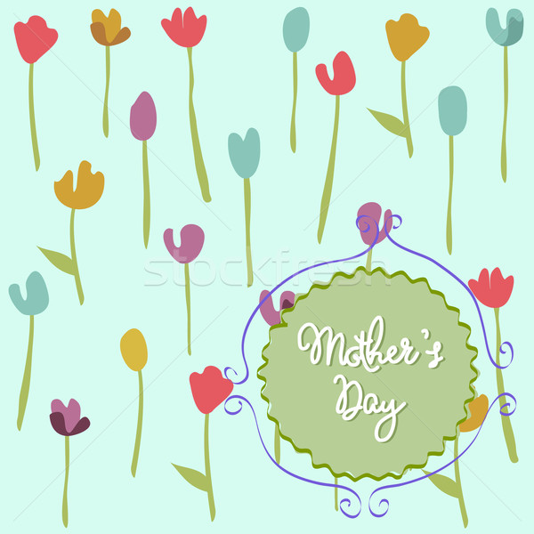 Mother's Day, floral pattern with tulips Stock photo © lemony