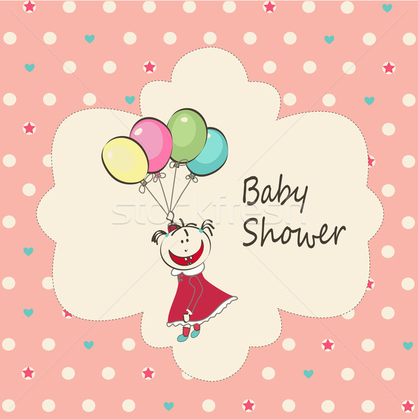 Bebek duş sevmek çocuk dizayn Stok fotoğraf © lemony