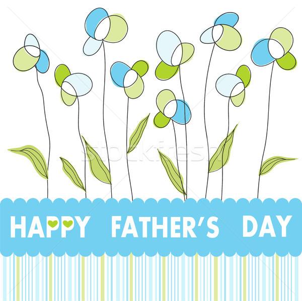 Dag bloemen kind achtergrond kid vader Stockfoto © lemony