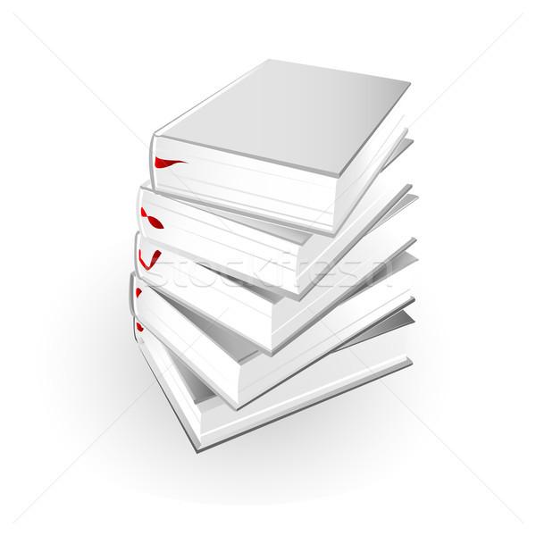 Kitaplar iş kâğıt çalışmak eğitim Stok fotoğraf © lemony