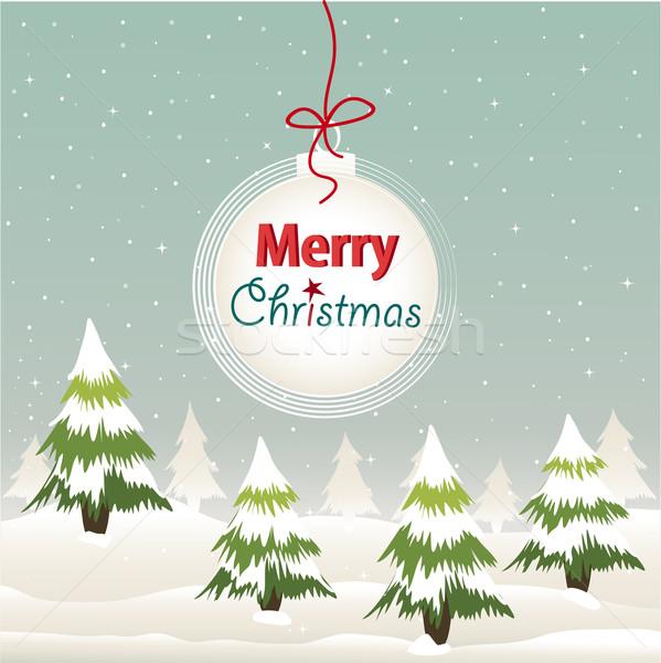 Christmas wenskaart textuur gelukkig ontwerp achtergrond Stockfoto © lemony