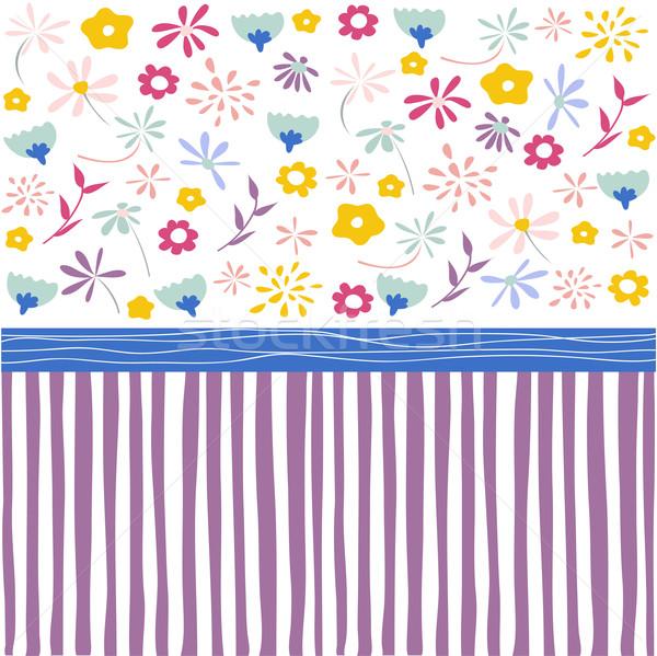 Naadloos patroon behang papier meisje Stockfoto © lemony