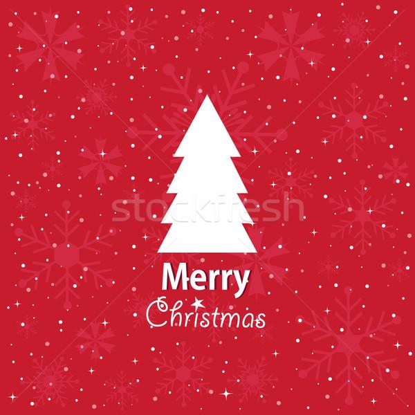 Neşeli Noel doku kar sanat Stok fotoğraf © lemony