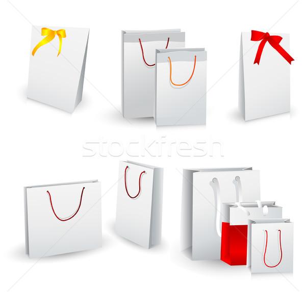 Geschenk abstract ontwerp Rood winkel Stockfoto © lemony