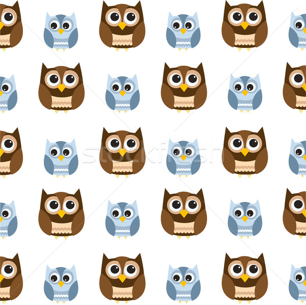 Seamless owl pattern Stock photo © lemony