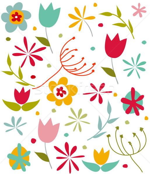 Foto d'archivio: Felice · primavera · carta · muro · coniglio · frame